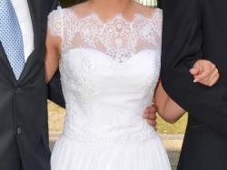 sprzedam suknia ślubna koronka muślin