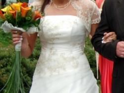 Sprzedam suknią ślubną PROMYK  + dodatki
