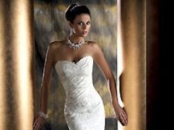 Sprzedam suknię Demetrios 4233 (wzór) - przepiękna, biała, fason syreny