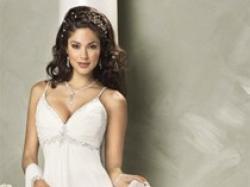 Sprzedam suknię - prosta, lekka, zwiewna - Madonna Maggie Sottero Paula 36-38