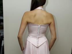 Sprzedam suknię r. 38 z salonu Julia,  pudrowy róż