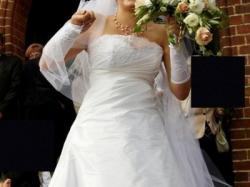 Sprzedam suknię ślubną 40/42 jednoczęściową - najpiękniejsza!