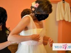 Sprzedam suknie ślubną Agnes bridal dream  GOLD COLLECTION, Model - 10202, ecru