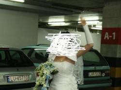 sprzedam suknie ślubną białą, jednoczęściową, założoną tylko raz.