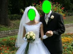 Sprzedam suknię ślubną biało rozmiar 36 Chełmno.