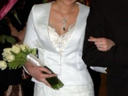 Sprzedam suknię ślubną Cosmobella 7318, kolor ecru, rozmiar 36