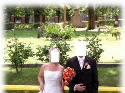 Sprzedam suknię ślubną ecrii - rozmiar 36