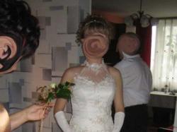 Sprzedam suknię ślubną ecru + rękawiczki gratis