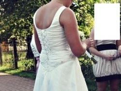 sprzedam suknie ślubną ecru rozm.40 śliczna