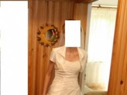 Sprzedam suknię ślubną ecru, rozmiar 34/36