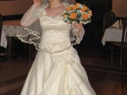 Sprzedam Suknię Ślubną Ecru, Złoty Szampan rozm 40