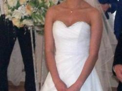 Sprzedam suknię ślubną Evita 34/34 szyta na miarę wg własnego projektu!!!