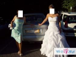 """Sprzedam suknię ślubną fason szyty na kształt litery """"A"""".Stan bardzo dobry!!!"""