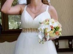 Sprzedam suknię ślubną i naszyjnik z kryształków