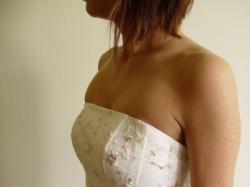 Sprzedam suknię ślubną jednoczęściową w kolorze ecru