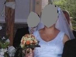 sprzedam suknię ślubna jednoczęściowa wiązana z tyłu jak gorset