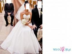 Sprzedam Suknię Ślubną kolor delikatne ecru -kość słoniowa