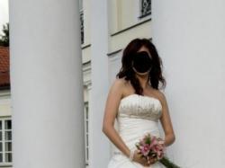 Sprzedam suknię ślubną, kolor ecru, roz. 38