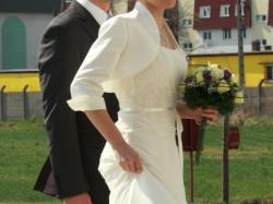 Sprzedam suknię ślubną, kolor ecru rozm. 38