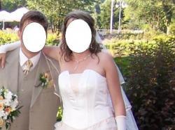 Sprzedam suknię ślubną koloru ecru/toffi  Rozmiar 38/40