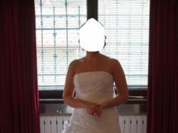 sprzedam suknię ślubna kupiona w salonie AGNES model 1745 + bolerko białe (38)
