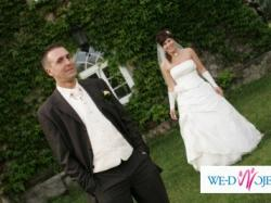 Sprzedam suknię ślubną Margarett i garnitur Wilworst ze wszystkimi dodatkami