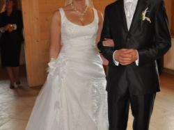 sprzedam suknię ślubną + męska kamizelka z krawatem gratis