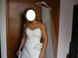 Sprzedam suknię ślubną model Adelaida tafta inteligentna kolor ercu
