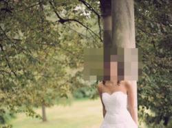 Sprzedam suknie ślubną na wysoką dziewczynę