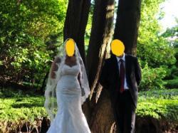 Sprzedam suknię ślubną o kroju rybki z firmy Le Mirage