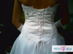 Sprzedam suknię ślubną- pilnie i tanio-200zł!