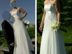sprzedam suknię ślubną plisowana