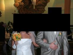 sprzedam suknię ślubną ,podpinany tren