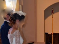Sprzedam Suknię Ślubną - projektu Violi Piekut + toczek z woalką + kolczyki