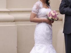 Sprzedam suknię ślubną przepiękną + dodatki