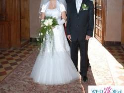 sprzedam suknię ślubną roz. 38, białą plus dodatki