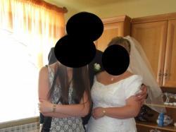 sprzedam suknie ślubną rozm.48/58 szyta na miare, regulowana+welon gratis
