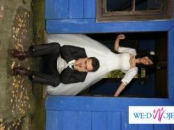 Sprzedam suknię ślubną rozmiar 36 + dodatki (haftowane po Łowicku)