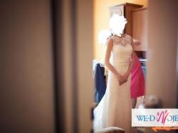 Sprzedam suknię ślubną, rozmiar 36, model rybka z trenem (podpinanym)