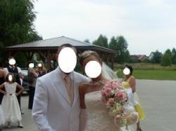 Sprzedam Suknie ślubna różowo-ecru, PLUS DODATKI