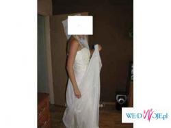 Sprzedam suknię ślubną szytą na miarę roz.38/40 na 175cm-1000zł do negocjacji