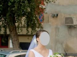 Sprzedam suknię ślubną szytą na wzór ABACO firmy Pronovias