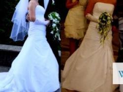 Sprzedam suknię ślubną szytą na wzór MON CHERI 110204