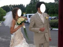 Sprzedam suknię ślubną uszytą na wzór Arsenjia Papilio (ecru+złoty)