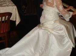 sprzedam suknię ślubna w kolorze ecru
