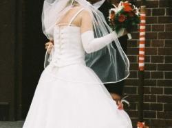 Sprzedam suknię ślubną w kolorze ecru rozmiar 38