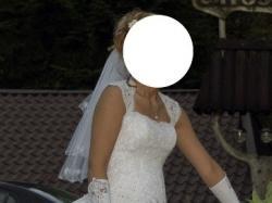Sprzedam suknię ślubną w rozmiarze 38