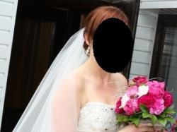 Sprzedam suknię ślubną, welon gratis!
