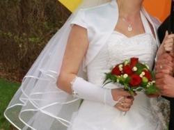 Sprzedam suknie ślubną+welon+rękawiczki