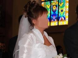 Sprzedam suknię ślubną z bolerkiem i welonem